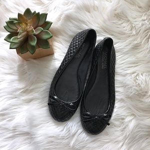 Michael Kors Black Quilted Patent Ballet Flats 5